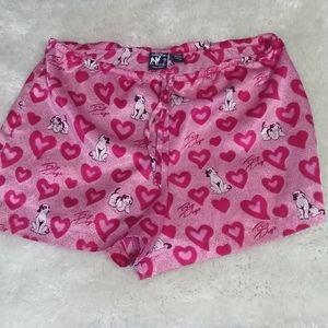 Mens Big dogs hearts sleep shorts, sz Small